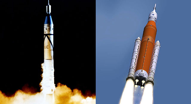 Rocket Evolution: Jupiter-C to SLS