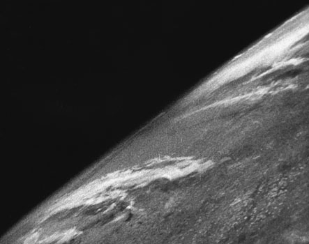 1946: First photo of Earth from space