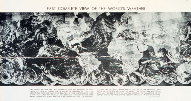 1965: First view of the whole world's weather (TIROS-9)