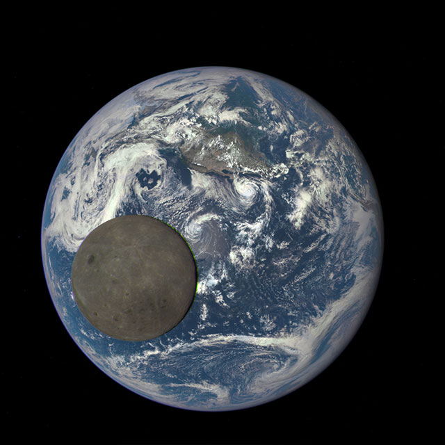 2015: Moon crosses Earth (EPIC/DSCOVR)